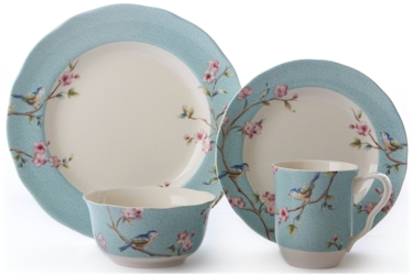 222 Fifth by PTS International Blossom Bird  sc 1 st  Microwave Cooking for One by Marie T Smith : bird dinnerware - pezcame.com