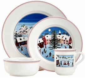 Villeroy u0026 Boch Naif Christmas  sc 1 st  Microwave Cooking for One & Discontinued Villeroy u0026 Boch Naif Christmas Dinnerware